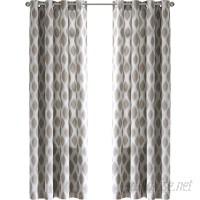 Three Posts Schmitt Ikat Max Blackout Grommet Single Curtain Panel THPS2187