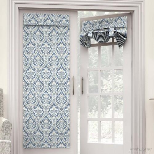 Waverly Donnington Damask Semi-Sheer Hook and Loop Strip Single Curtain Panel WVY2161