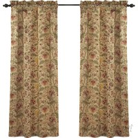 Waverly Imperial Dress Nature/Floral Room Darkening Rod Pocket Single Curtain Panel WVY2138