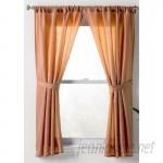 Wayfair Basics™ Wayfair Basics Solid Sheer Rod Pocket Bathroom Curtain Panels WFBS1205