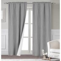 Alcott Hill Maxwell Modern Solid Room Darkening Thermal Rod Pocket Curtain Panels ALTH1098