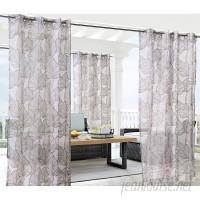 Bay Isle Home Bolton Leaf Nature Sheer Outdoor Grommet Single Curtain Panel CXF1864