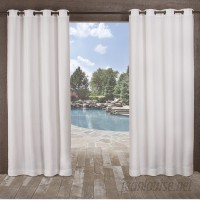Bay Isle Home Lythrodontas Heavy Textured Solid Outdoor Grommet Curtain Panels BAYI8321