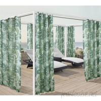 Bay Isle Home Petersham Banana Leaf Nature Sheer Outdoor Grommet Single Curtain Panel CXF1871