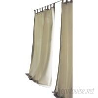 Beachcrest Home Sinead Solid Room Darkening Tab Top Single Curtain Panel BCMH1998