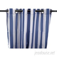 Beachcrest Home Striped Semi-Sheer Outdoor Grommet Single Curtain Panel BCMH2493