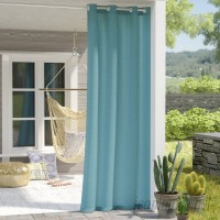 Bungalow Rose Azura Solid Room Darkening Outdoor Grommet Single Curtain Panel BNRS4918