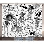 East Urban Home Dead Dancers Decorations Graphic and Text Room Darkening Rod Pocket Curtain Panels ESTN1683