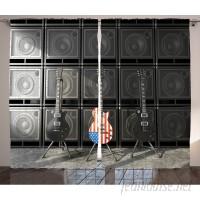 East Urban Home Guitar Decor Graphic Print Room Darkening Rod Pocket Curtain Panels ESTN1706