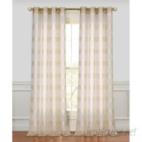 Highland Dunes Barbados Striped Sheer Grommet Curtain Panels HIDN1011