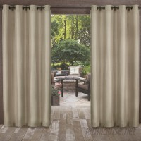 Highland Dunes Champine Solid Room Darkening Outdoor Grommet Curtain Panels HLDS3334