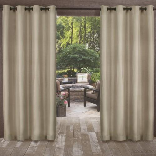 Highland Dunes Champine Solid Room Darkening Outdoor Grommet Curtain Panels HLDS3334
