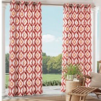 Parasol Barbados Ikat Semi-Sheer Grommet Single Curtain Panel ARAS1006