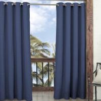 Parasol Key Largo Solid Semi-Sheer Thermal Grommet Single Curtain Panel ECP1065
