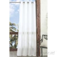 Parasol Summerland Key Solid Sheer Outdoor Grommet Single Curtain Panel ECP1057