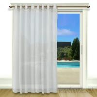 Ricardo Trading Bal Harbour Patio Solid Semi-Sheer Grommet Single Curtain Panel RCTR1059