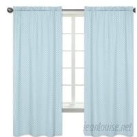 Sweet Jojo Designs Woodland Toile Geometric Semi-Sheer Rod Pocket Curtain Panels JJD6335
