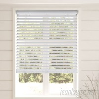 Top Blinds Room Darkening White Horizontal/Venetian Blind TPBS1097
