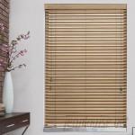 "Wildon Home ® Byrnes 2"" Pine Faux Wood Blind CST47442"