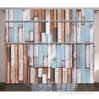 Williston Forge Amita Rustic Graphic Print and Text Semi-Sheer Rod Pocket Curtain Panels WLFR1446