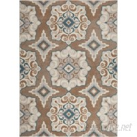 Andover Mills Natural Cerulean Blue/Taupe Area Rug ANDO1444