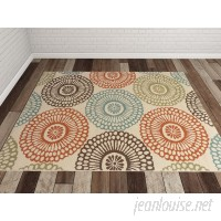 Bungalow Rose Douane Orange/Brown Area Rug BNGL2320