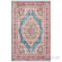 Bungalow Rose Lonerock Turquoise/Pink Area Rug BGRS2249
