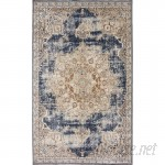 Laurel Foundry Modern Farmhouse Abbeville Blue Area Rug LRFY1014