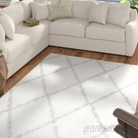 Mercury Row Colona White/Gray Area Rug MCRW5912