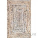 Mistana Destrie Hand-Braided Cotton Blue Area Rug MTNA1904
