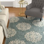 The Twillery Co. Castor Exploded Medallions Woven Blue Area Rug CHMB2178