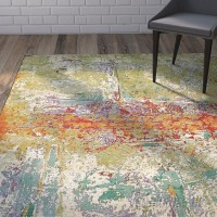 Wade Logan Barone Green Indoor/Outdoor Area Rug WDLN3849