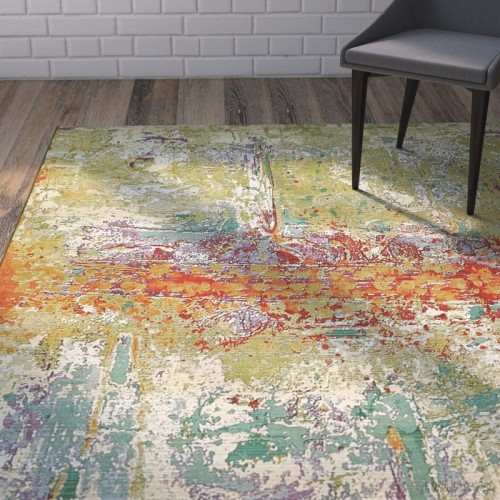 Wade Logan Barone Green Indoor Outdoor Area Rug Wdln3849