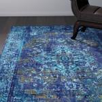 World Menagerie Tyrese Blue Area Rug WLDM6876