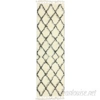 Langley Street Twinar Hand-Knotted Wool Off White/Dark Grey Area Rug LGLY2588