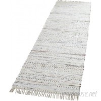 Beachcrest Home Penrock Way Handwoven Cotton White Area Rug BCHH1572