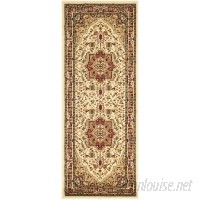 Charlton Home Theresa Ivory/Red Area Rug CHLH2303