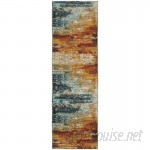 Trent Austin Design Haugan Abstract Blue/Red Area Rug TADN8285