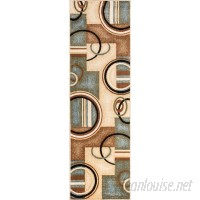 Zipcode Design Elba Modern Blue Arcs Shapes Area Rug INFT1202