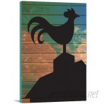 Artzee Designs 'Modern Farm Rooster' Graphic Art on Wrapped Canvas ATZE1081