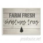 August Grove 'Farm Fresh Christmas Trees Vintage Sign' Textual Art AGTG1301