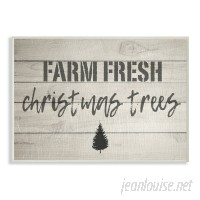 August Grove 'Farm Fresh Christmas Trees Vintage Sign' Textual Art AGTG1301