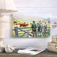 August Grove 'Hereford Cattle' Print on Wrapped Canvas AGGR5075