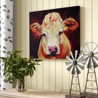 August Grove Cow Painting Print on Canvas AGGR1256