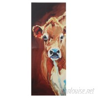 August Grove Cow Painting Print on Canvas AGGR1261