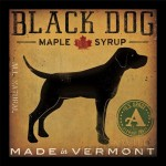 Buy Art For Less 'Black Dog Maple Syrup' by Ryan Fowler Framed Vintage Advertisement BYAR1239
