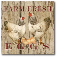 Courtside Market Farmhouse Canvas Farm Fresh I Graphic Art on Wrapped Canvas COUR1340