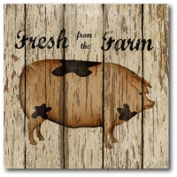 Courtside Market Farmhouse Canvas Farm Fresh II Graphic Art on Wrapped Canvas COUR1341