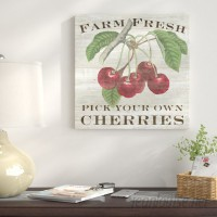 East Urban Home Farm Fresh Cherries Graphic Art on Wrapped Canvas USSC8522