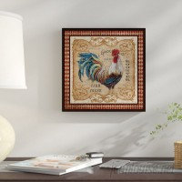 Fleur De Lis Living 'Old World Rooster ' Graphic Art on Wrapped Canvas FDLL8643